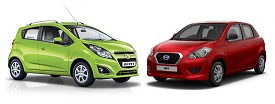 Datsun Go vs Chevrolet Beat
