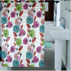 Enfin Homes ENF13C229 Shower Bathroom Curtain