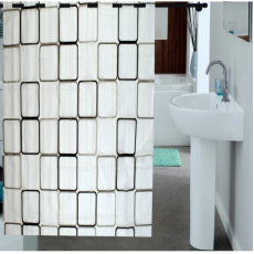 Enfin Homes ENF13C241 Shower Bathroom Curtain