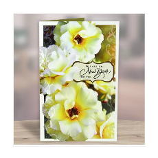 Archies Floral New Year Greeting Card