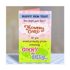 Archies Flowery & Goofy New Year Greeting Card