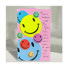 Archies Smileys New Year Greeting Card