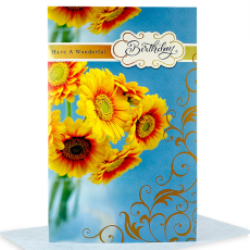 Archies Sunflower BDY02406 Birthday Greeting Card