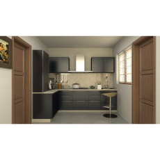 Krios STUDIO BLACK L Shaped Kitchen