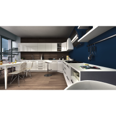 Krios Valencia White L Shaped Kitchen