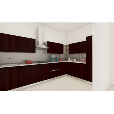 Livspace Modern Sleek L Shaped Kitchen