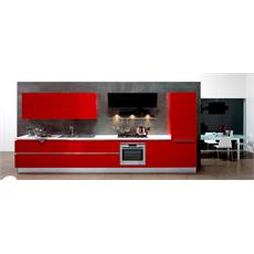 Aluminium Red Italian Straight Kitchen