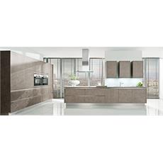 Beige Grey German T Shaped Kitchen