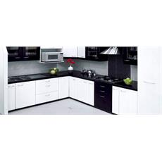 Black Indian L Shaped Kitchen