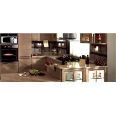 Brown Indian U Shaped Kitchen