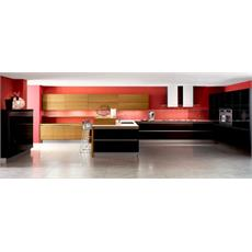 Veneta cucine black kitchen price 2017 latest models for Italian modular kitchen